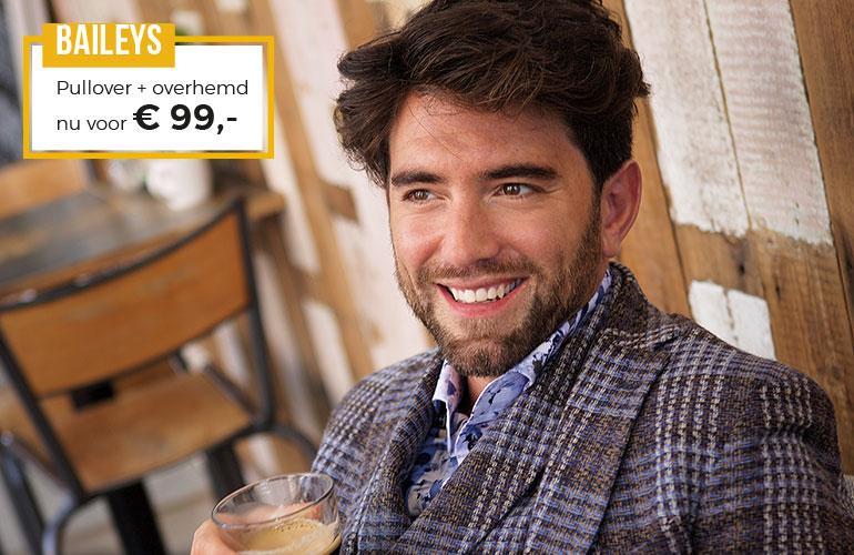 Baileys: Pullover + Overhemd - 99 euro