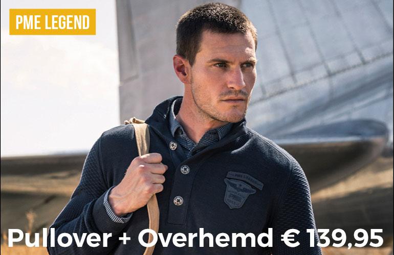 PME Legend: Pullover + Overhemd - 139,95 euro