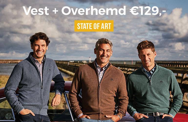 State of Art: Vest + overhemd - 129 euro